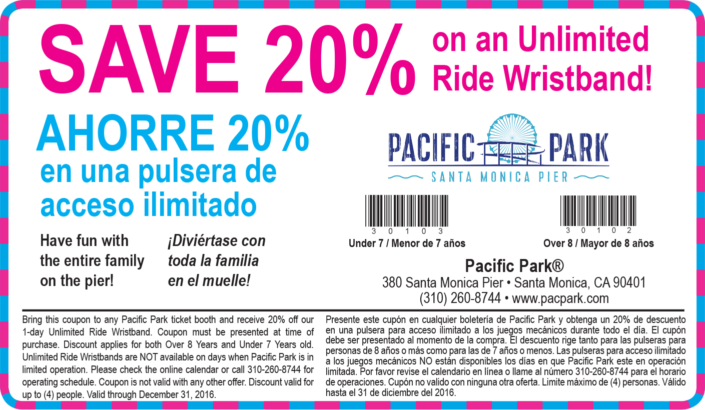 Pacific park coupons discounts