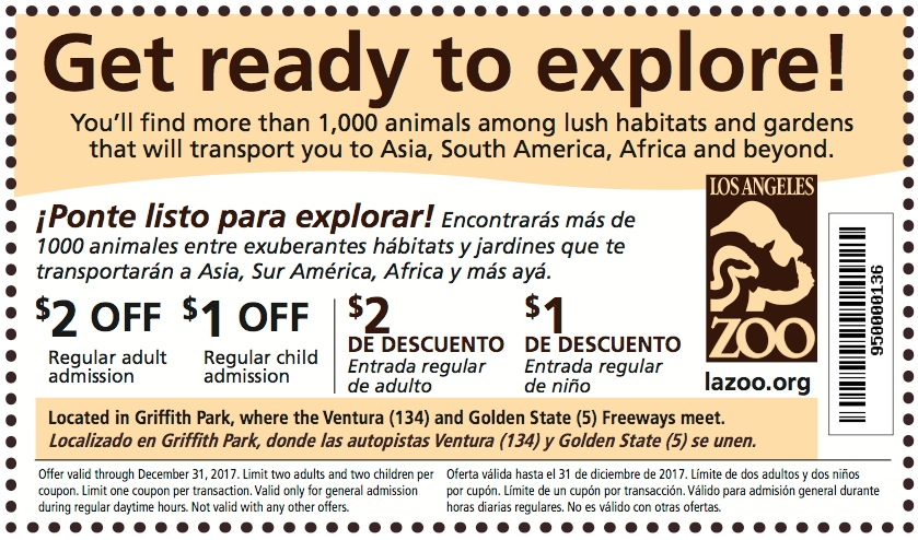 Natural History Museum Los Angeles Coupon