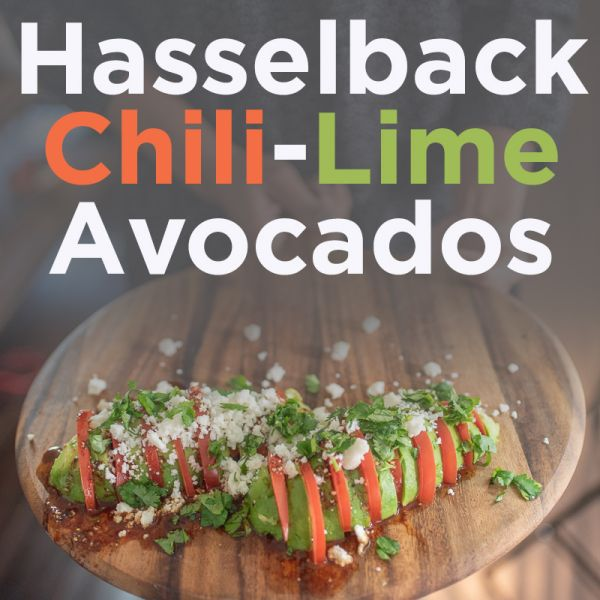 Hasselback Chili-lime Avocados