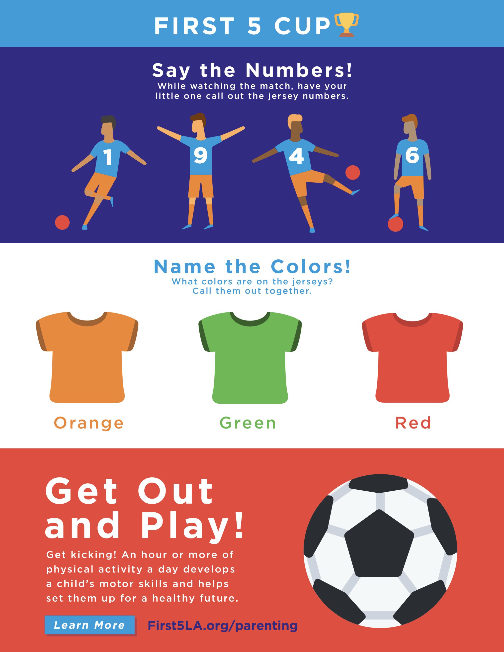 picture about Soccer Printable titled 1st 5 LAs Football Printable Very first 5 LA: Mom and dad Household