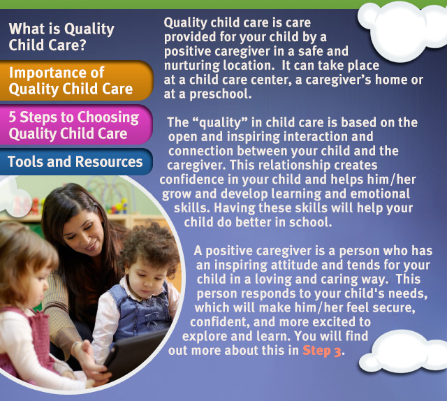 child care learning and development Learning & development child development working as a team with your child care professionals provides the best support for your child to survive a traumatic.