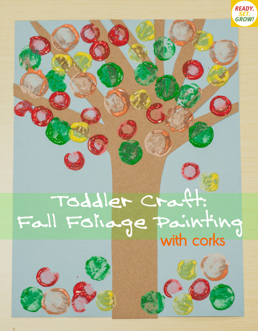 Toddler Craft: Fall Foliage Painting from Ready.Set.Grow!