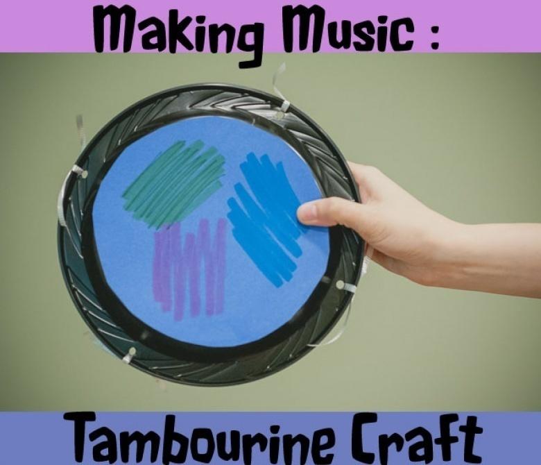 tambourine craft for preschoolers crafting