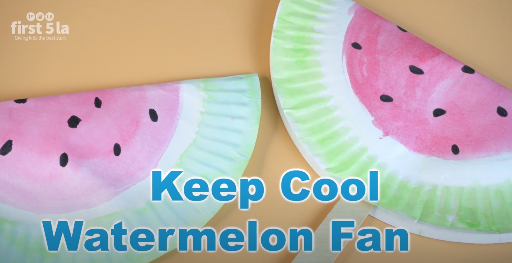 Craft: Keep Cool Watermelon Fan