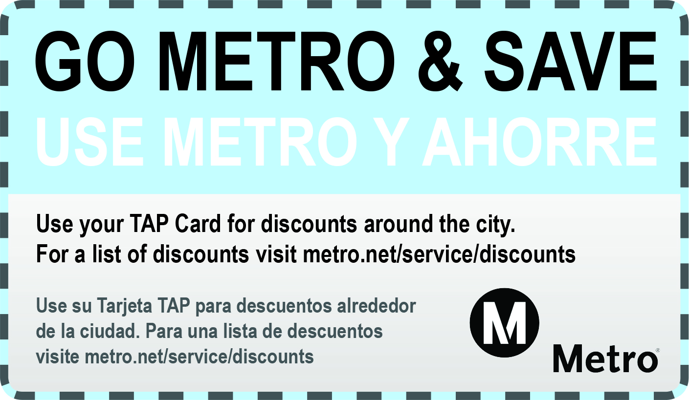 Use your TAP card for discounts around the city