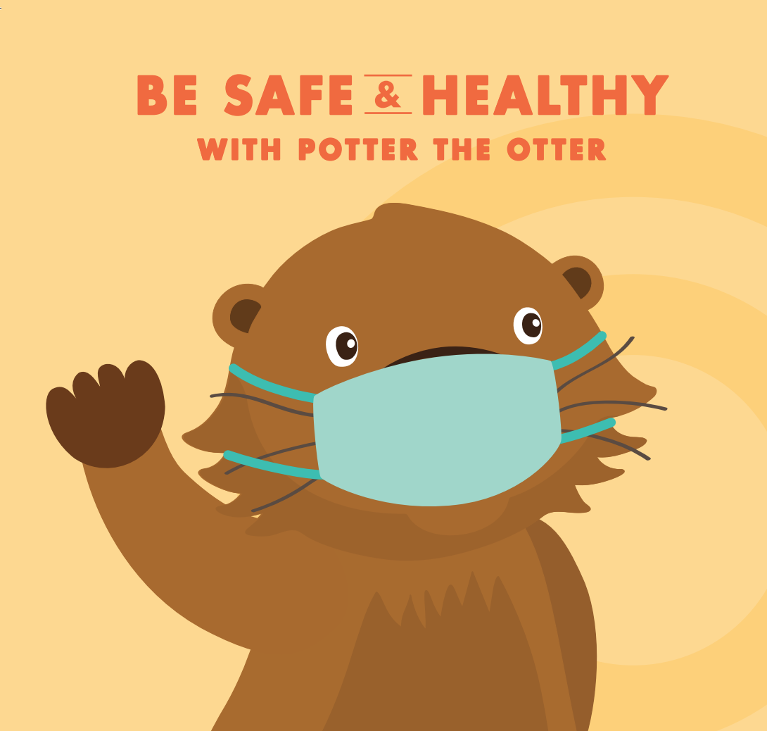 与水獭一起安全健康! 面向儿童和家庭的COVID-19指南